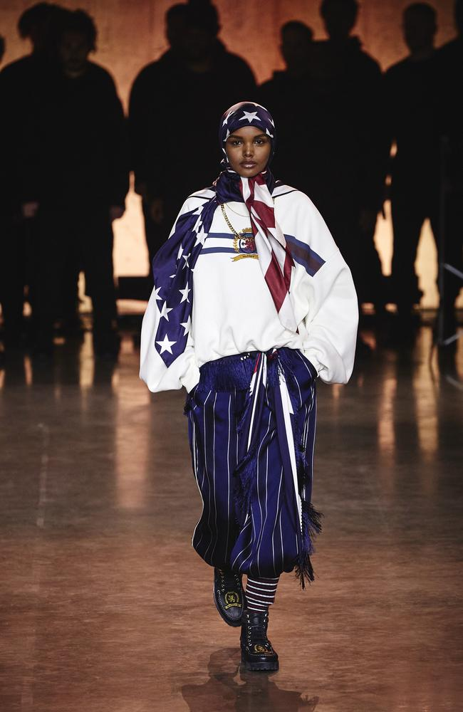 Stars and stripes! Halima Aden. Picture: Getty Images for Tommy Hilfiger
