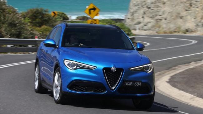 The Stelvio Ti has more power than the standard model. Picture: Supplied.