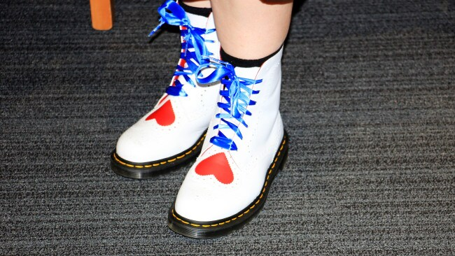 Not every bride chooses custom Docs for their big day. Photo: Supplied