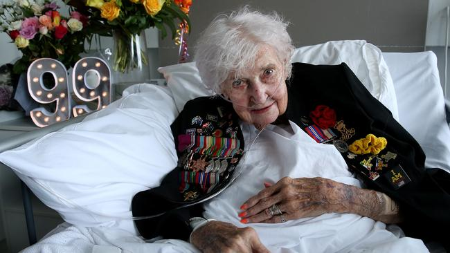 War widow Daphne Dunne was thrilled to receive a birthday message from the Duke and Duchess of Sussex, Prince Harry and Meghan. Picture: Toby Zerna
