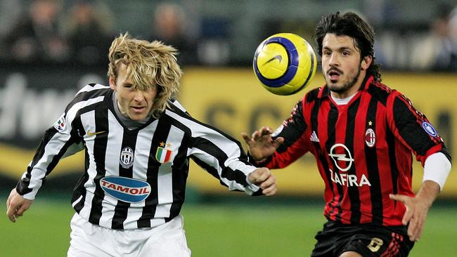 Pavel Nedved has Gattuso hot on his heals.