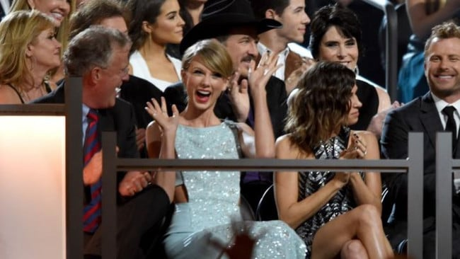 It's Scott Swift (L), who Taylor should really be angry at. Picture: Getty.