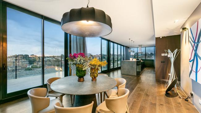 The penthouse has a $5-$5.5 million price guide.