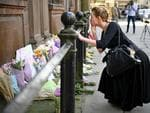 Members of the public lay flowers in St Ann Square on Tuesday, May 23, 2017 in Manchester, England. Picture: Getty