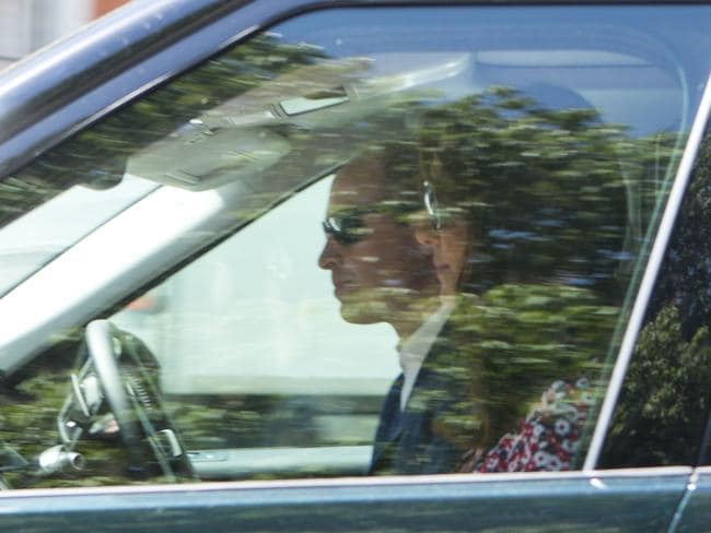 Prince William and Kate on their way to Windsor for the wedding rehearsal. Picture: Tim Anderson/Mirrorpix/australscope