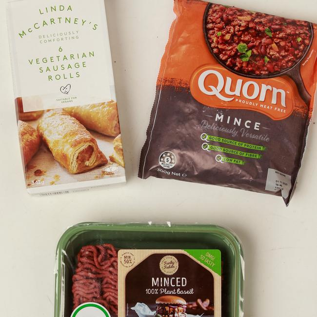 Meat free alternatives available in Woolworths. Picture: Justin Lloyd.