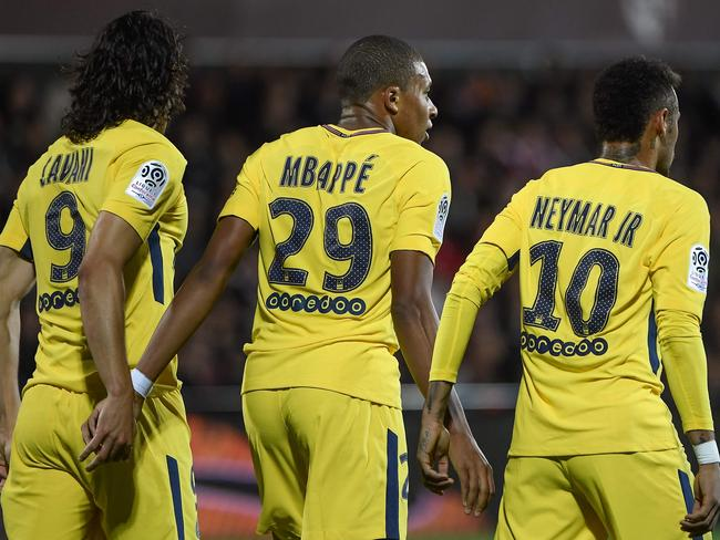 Paris Saint-Germain's star-studded attack.
