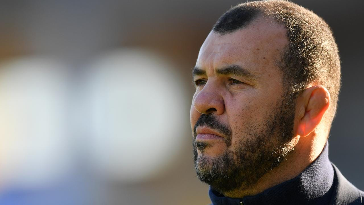 Michael Cheika looks on prior to the international between Italy and Australia.