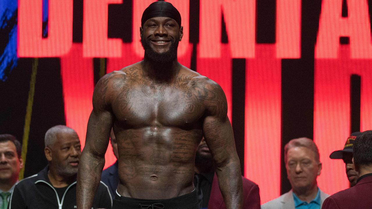 Wilder appeared far more physically fit and prepared for the fight - all part of Fury's plan. (Photo by Mark RALSTON / AFP)