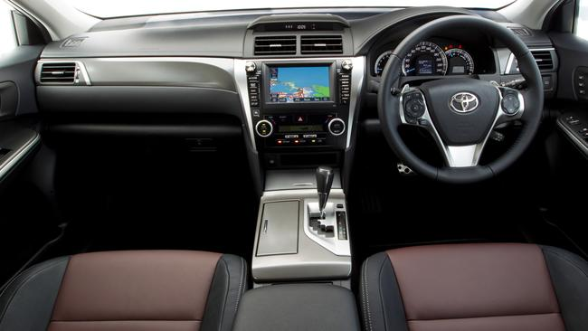 Sportivo interior: Leather accents, seven-inch screen and satnav.