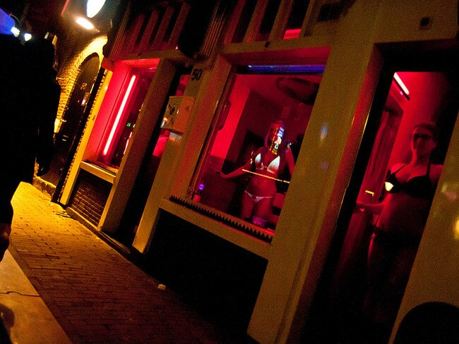 Amsterdam's popular red light district is a massive drawcard for young revellers.