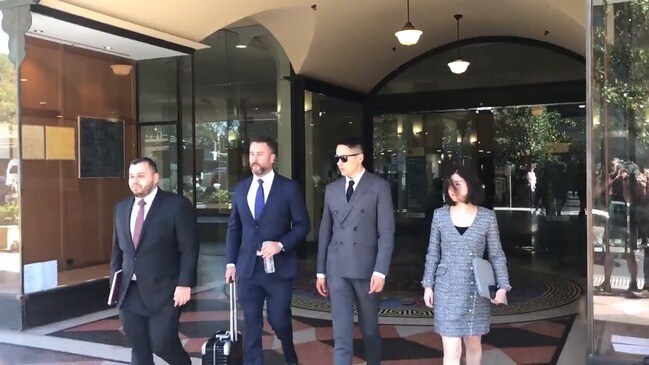 Chinese star Yunxiang Gao leaves court