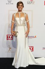 Amber Sherlock arrives on the red carpet at the 59th annual TV Week Logie Awards on April 23, 2017 at the Crown Casino in Melbourne, Australia. Picture: Julie Kiriacoudis