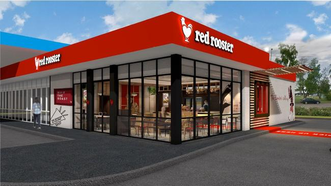 Concept art for Red Rooster's new Parap restaurant. Picture: Supplied