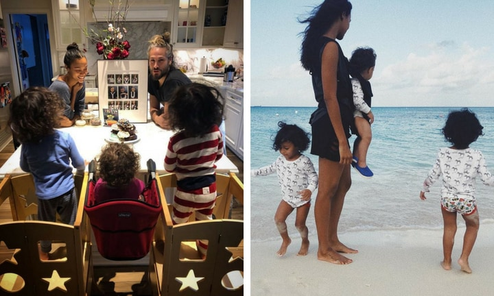 "<b> ZOË SALDANA </b>  <p> The Avatar star is happy to share pics of her three adorable kids, just not their faces. ""I just don't want 16 years from now to get, 'You are so disrespectful. You invaded, you exposed me and I wasn't ready,'"" she told E! News, ""even though they're babies and they're still under our care, it's still their face."" </p>"