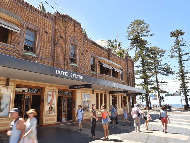 The Steyne Hotel at Manly on Friday, February 15.