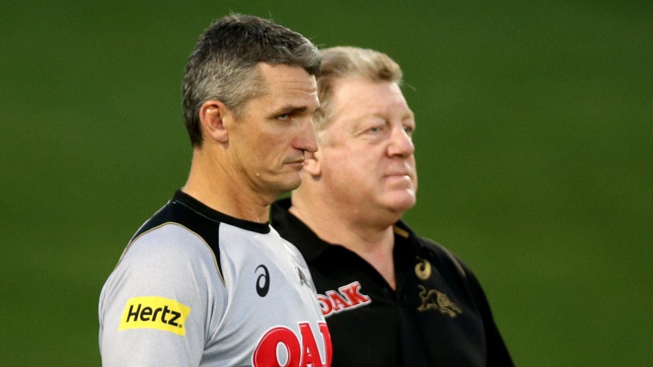 Panthers coach Ivan Cleary and Phil Gould