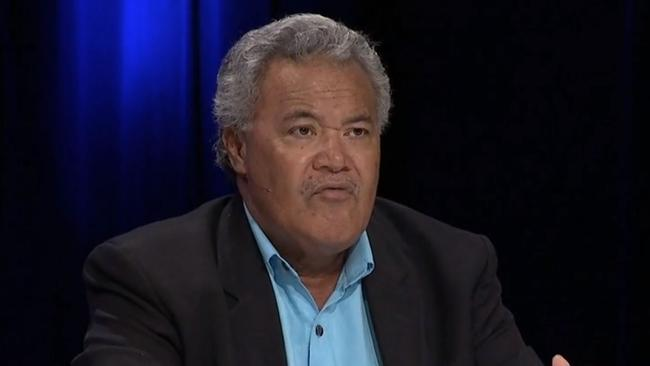 "Former Tuvalu PM Enele Sopoaga said he was ""taken aback"" by Scott Morrison's stance on climate change. Picture: ABC"