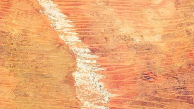The Great Sandy Desert in the northwest of Australia, taken on March 25, 2013. Photo: NASA