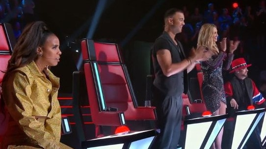 Vidgen managed to turn all four coaches' chairs