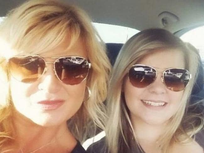 Christy Sheats with daughter, Taylor. Picture: Facebook