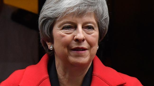 Britain's Prime Minister Theresa May leaves 10 Downing Street in London. Picture: Ben Stansall / AFP