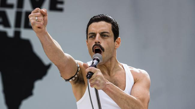 Actor Rami Malek as Freddie Mercury in the film. Picture: Alex Bailey/Twentieth Century Fox via AP