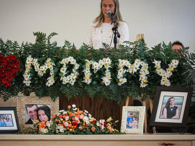 Members of local Mormon communities and relatives of the extended Le Baron family attend the funeral held for Christina Marie Langford on November 09, 2019 in Le Barón, Mexico. Picture: Manuel Velasquez/Getty Images