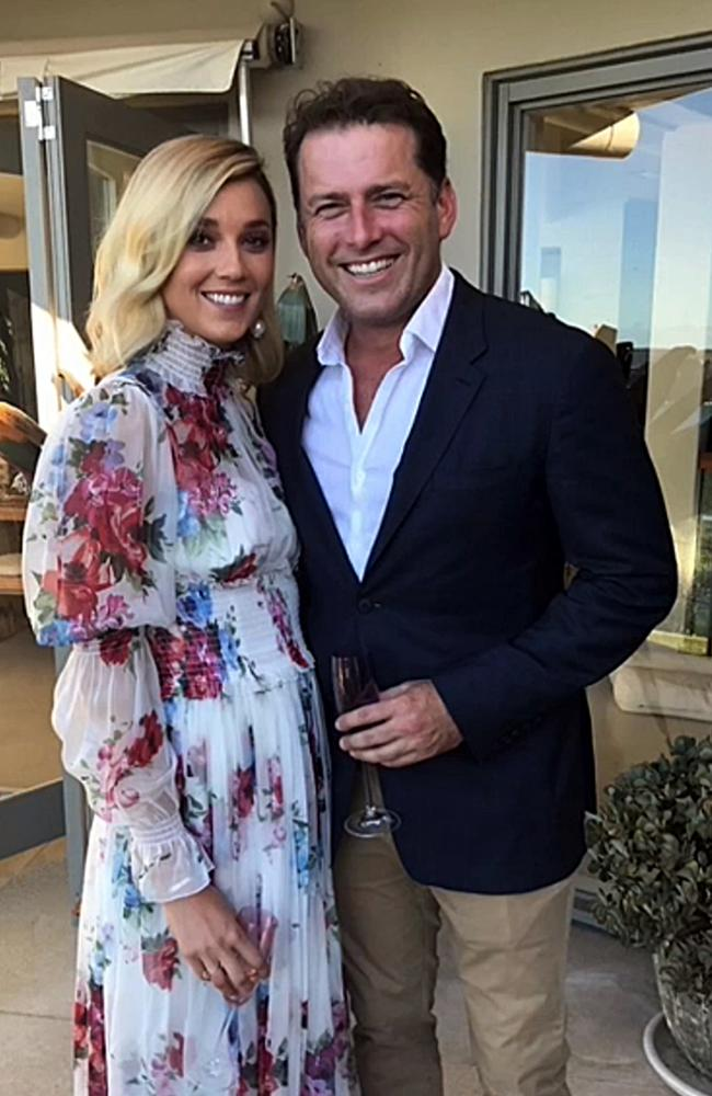 Jasmine Yarbrough and Karl Stefanovic at their commitment ceremony earlier this year.
