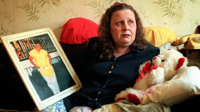 Janet's grieving mother Barbara Phillips, above with a picture of her murdered daughter. Picture: Paul Wager.