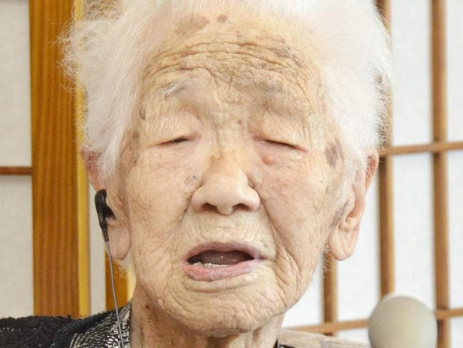 Kane Tanaka, 116, who loves playing the board game Othello, is being honored as the world's oldest living person by Guinness World Records. Picture: AP