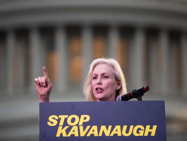 US Sen. Kirsten Gillibrand speaks at a rally against Supreme Court nominee Judge Brett Kavanaugh in Washington, DC. Picture: Drew Angerer/Getty Images/AFP