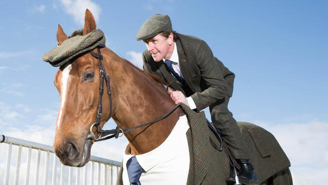 Morestead — dressed like a stallion. The suit also features a matching flat cap. Picture: David Parry/PA Wire