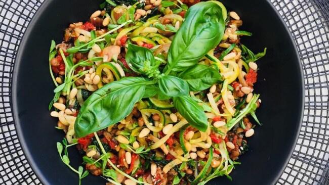 Switch regular pasta for legume pasta.