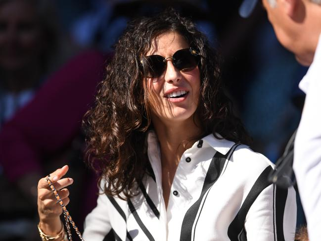 Xisca Perello, girlfriend of Rafael Nadal, is seen in the crowd during the match between the Spaniard and Tomas Berdych.