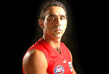 Seething ... Goodes said he blasted the player for 15 minutes. Phil Hillyard