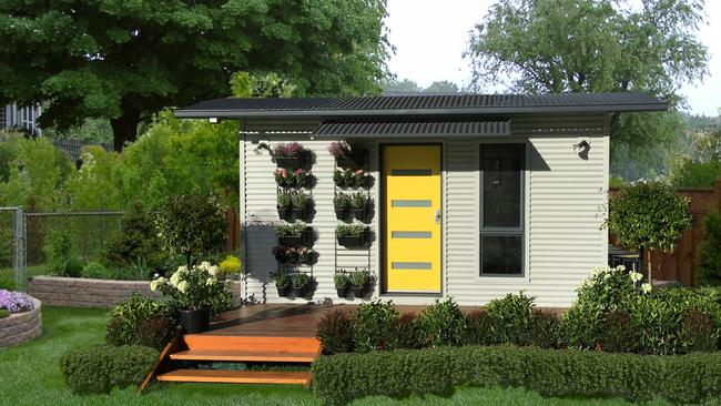 """The most affordable tiny home offering, """"Studio"""", which costs $35,000. Image: JAM3D"""