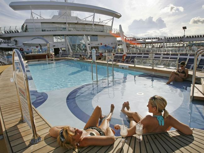 One of the pools on board the ship.