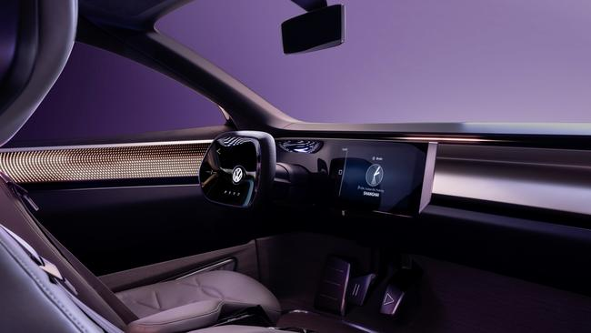 Volkswagen has used a material made out of apple cores and skins for the upholstery.