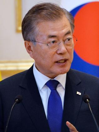 South Korean President Moon Jae-in is locked in a trade dispute with his Japanese counterpart Shinzo Abe.
