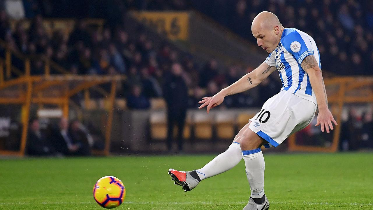 Aaron Mooy was back in action for Huddersfield after missing 53 days due to a knee ligament injury.