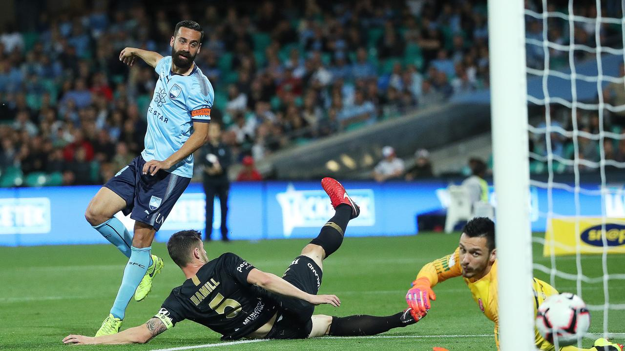 Sydney FC's Alex Brosque. Picture. Phil Hillyard