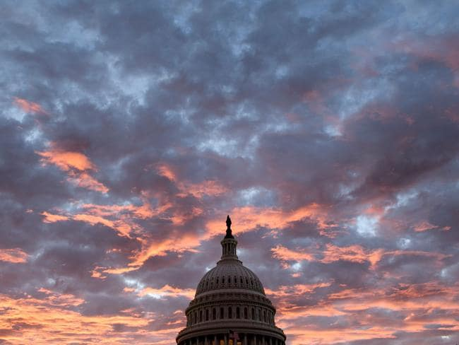 The deep rift dividing the United States has become more pronounced than ever, with Congress split in two. Picture: Brendan Smialowski/AFP