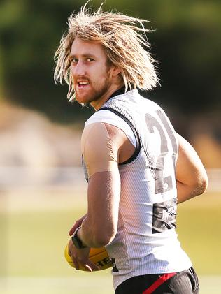 Essendon captain Dyson Heppell was one of the first players picked in David's team. Picture: Michael Dodge/Getty Images.