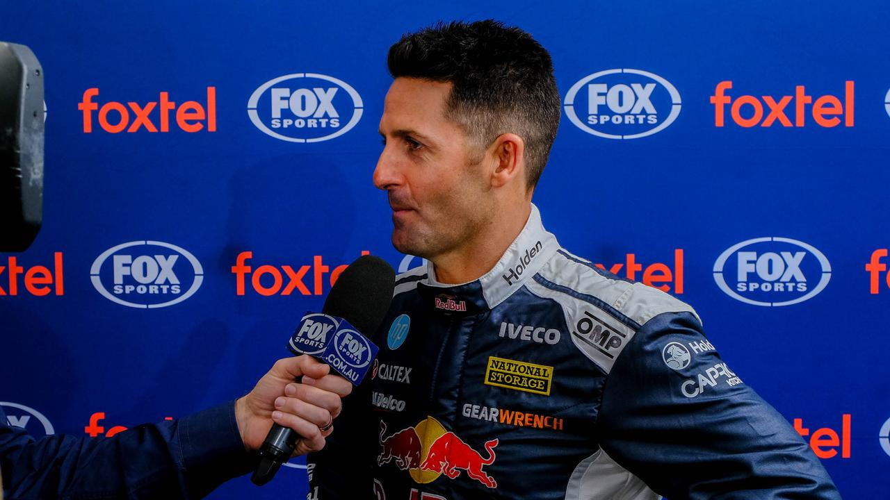Whincup speaking at Fox Sports' Bathurst launch.
