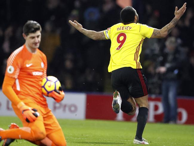 Watford's Troy Deeney celebrates.