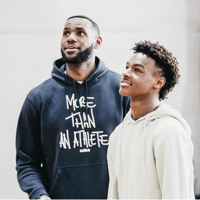 LeBron and his son.