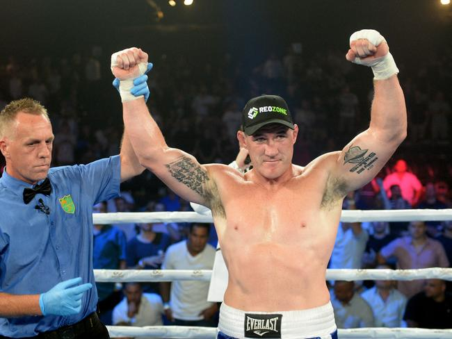 Paul Gallen hasn't had any issues fighting washed up bums so far.