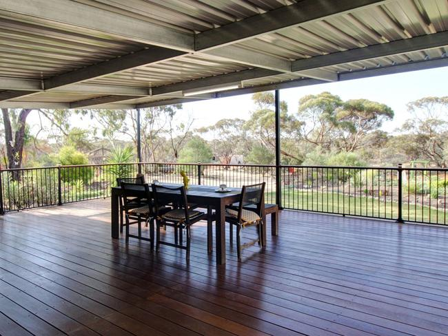A big deck for the adults to entertain too.