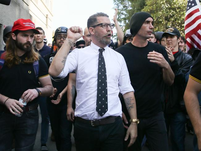Gavin McInnes, who was one of the founding editors of Vice, went on to found the Proud Boys, who also encourage men to stop masturbating. Picture: Elijah Nouvelage